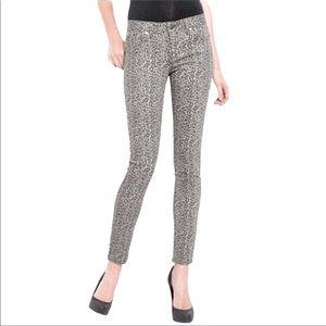 PAIGE Gray Animal Print Peg Skinny Jeans 30